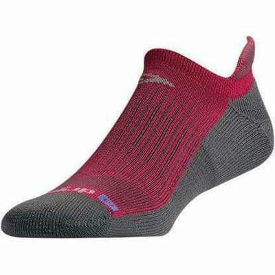 Drymax Running No Show Tab Socks - Small / October Pink/Anthracite