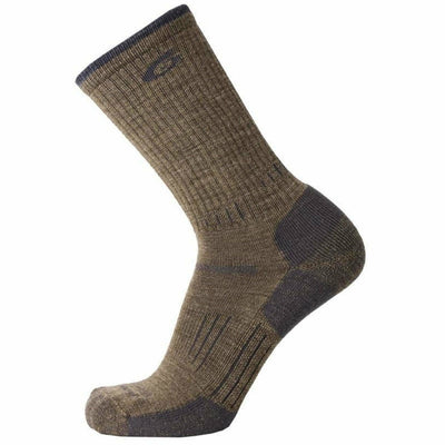 Point6 Hiking Essential Light Crew Socks - Medium / Earth