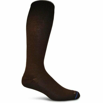 Sockwell Mens Circulator Moderate Compression OTC Socks Medium/Large / Black Solid