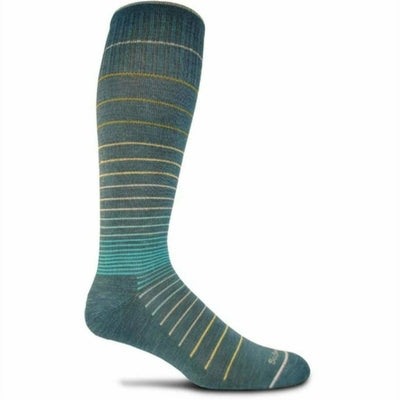Sockwell Womens Circulator Moderate Compression Knee High Socks Small/Medium / Teal
