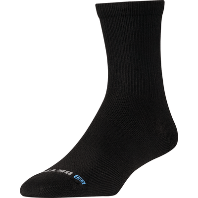 Drymax Thin Running Crew Socks - Small / Black