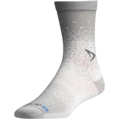 Drymax Thin Running Crew Socks - Small / Gray/White