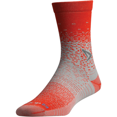 Drymax Thin Running Crew Socks - Small / Sunburst Orange/Gray