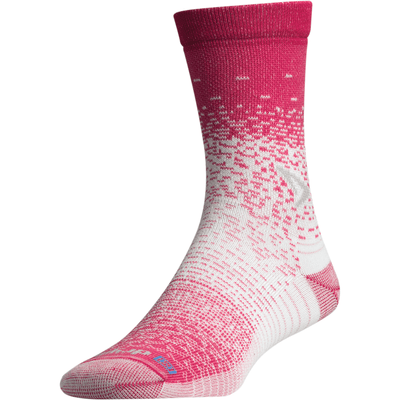 Drymax Thin Running Crew Socks - Small / October Pink/White