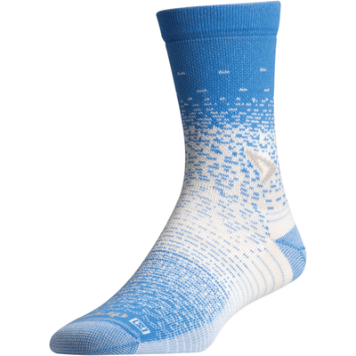 Drymax Thin Running Crew Socks - Small / Big Sky Blue/Gray/White