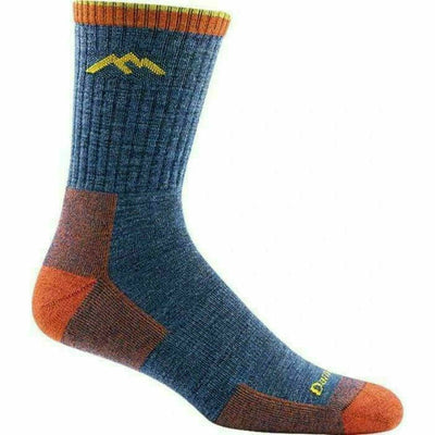 Darn Tough Hiker Micro Crew Cushion Mens Socks Medium / Denim