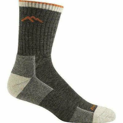 Darn Tough Hiker Micro Crew Cushion Mens Socks Small / Olive