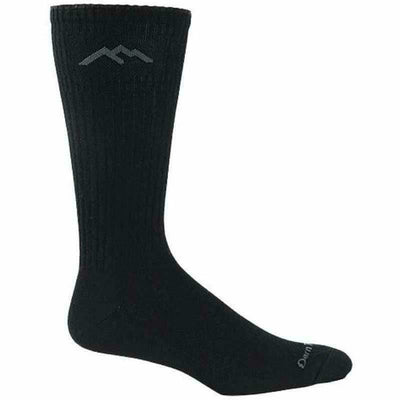 Darn Tough Standard Issue Mid-Calf Light Cushion Mens Socks - Small / Black