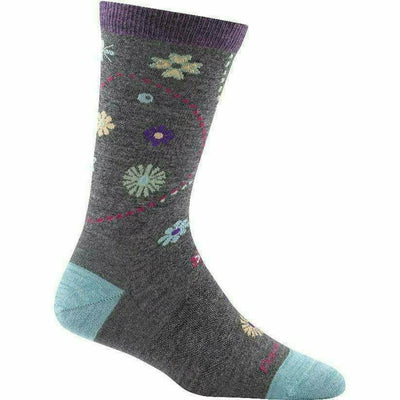 Darn Tough Garden Crew Light Womens Socks - Small / Medium Gray