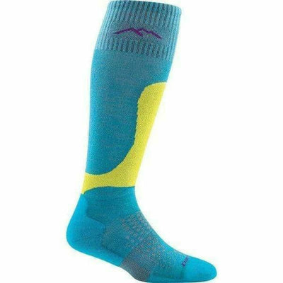 Darn Tough Fall Line OTC Padded Light Cushion Womens Ski Socks - Small / Blue