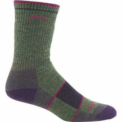 Darn Tough Hiker Full Cushion Womens Boot Socks Small / Moss Heather