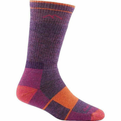 Darn Tough Hiker Full Cushion Womens Boot Socks Small / Plum Heather