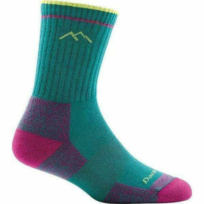 Darn Tough CoolMax Hiker Micro Crew Cushion Womens Socks - Small / Teal