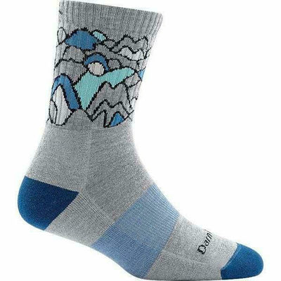 Darn Tough CoolMax Zuni Micro Crew Cushion Womens Socks Small / Light Gray