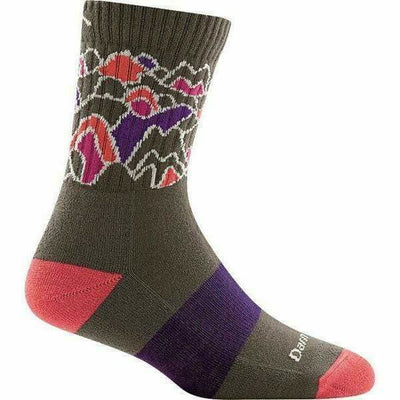 Darn Tough CoolMax Zuni Micro Crew Cushion Womens Socks Small / Taupe