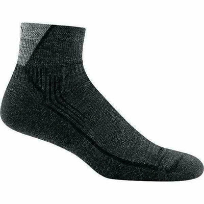 Darn Tough Hiker 1/4 Cushion Mens Socks Small / Black
