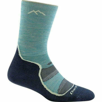 Darn Tough Light Hiker Micro Crew Light Cushion Womens Socks Small / Aqua