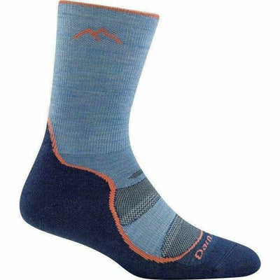 Darn Tough Light Hiker Micro Crew Light Cushion Womens Socks Small / Denim