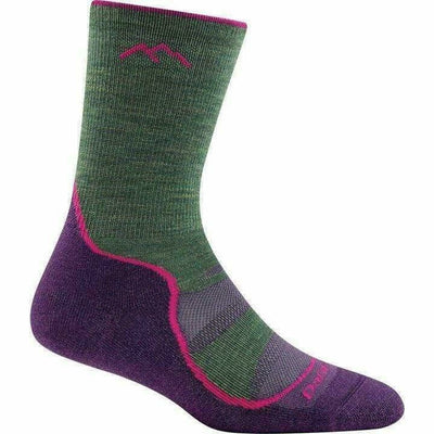 Darn Tough Light Hiker Micro Crew Light Cushion Womens Socks Small / Moss