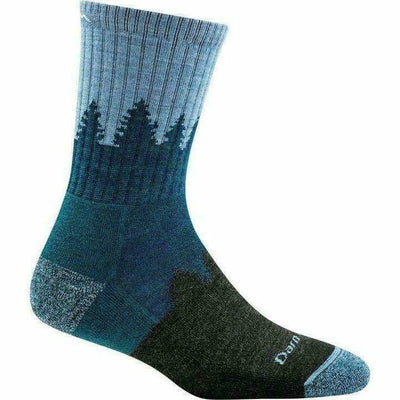 Darn Tough Treeline Micro Crew Cushion Womens Socks - Small / Blue