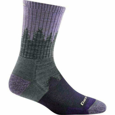 Darn Tough Treeline Micro Crew Cushion Womens Socks Small / Lavender