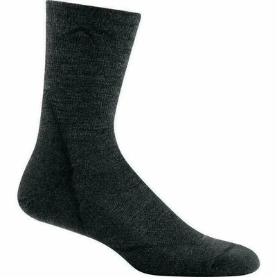 Darn Tough Light Hiker Micro Crew Light Cushion Mens Socks Medium / Black / Current