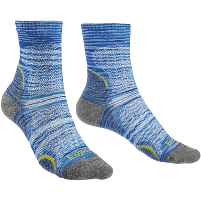 Bridgedale Womens Hike Ultra Light Endurance 3/4 CrewSocks Small / Multi Blue