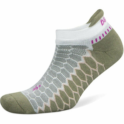 Balega Silver No Show Socks - Small / White/Aloe