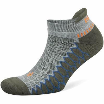Balega Silver No Show Socks - Small / Midgrey/Green Pepper