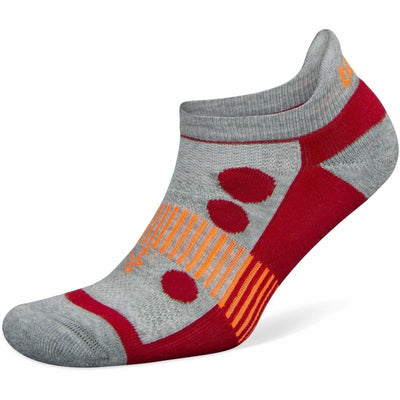 Balega Hidden Cool Kids Socks - Medium / Midgrey/Red