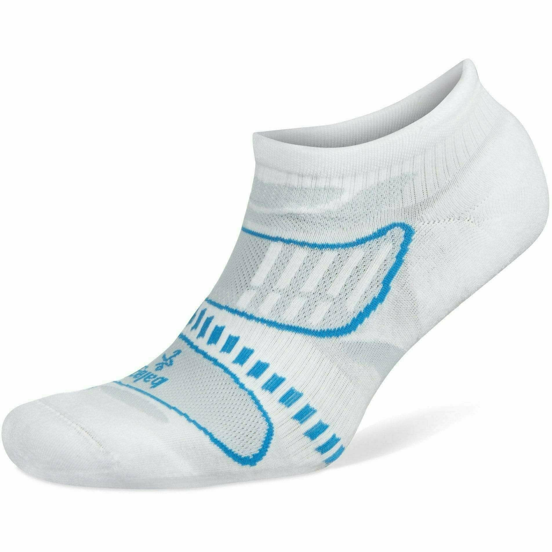 Balega Ultra Light No Show Socks Small / White/French Blue / Current