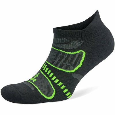 Balega Ultra Light No Show Socks Small / Black/Lime / Current