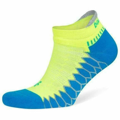 Balega Silver No Show Socks - Small / Bright Turquoise/Neon Lime