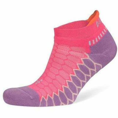 Balega Silver No Show Socks - Small / Bright Lilac/Watermelon