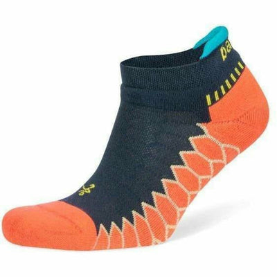 Balega Silver No Show Socks - Small / Neon Coral/Ink