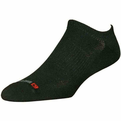 Drymax Golf Light-Mesh No Show Socks - Small / Black