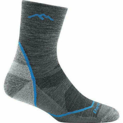 Darn Tough Micro Crew Light Hiker Jr Light Cushion Hiking Socks - Small / Gray