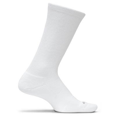 Feetures Therapeutic Cushion Crew Socks - Small / White
