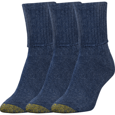 Gold Toe Womens Bermuda Turn Cuff Socks Regular / Denim