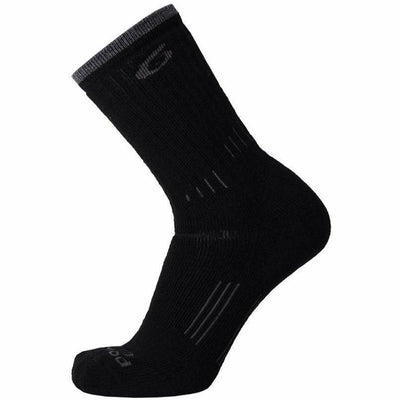 Point6 Hiking 37.5 Medium Crew Socks - Medium / Black