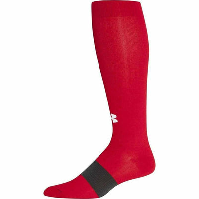Under Armour Soccer OTC Socks - Youth Large / Red