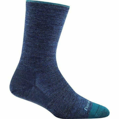 Darn Tough Solid Basic Crew Light Womens Socks Small / Denim