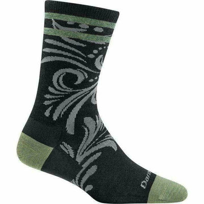 Darn Tough Vines Crew Light Womens Socks Small / Black