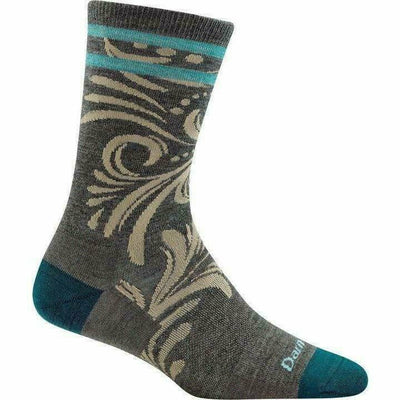 Darn Tough Vines Crew Light Womens Socks - Small / Taupe