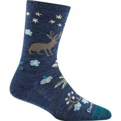 Darn Tough Folktale Crew Light Womens Socks Small / Denim