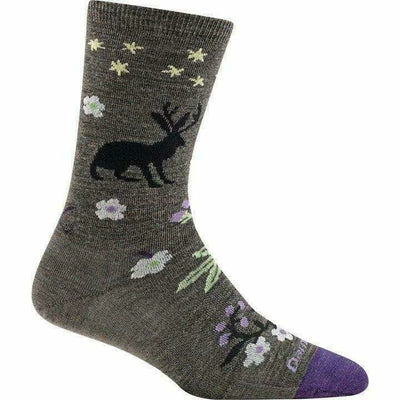Darn Tough Folktale Crew Light Womens Socks - Small / Taupe