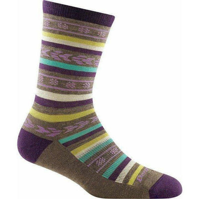 Darn Tough Bronwyn Crew Light Cushion Womens Socks Small / Taupe