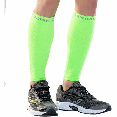 Zensah Compression Leg Sleeves - X-Small/Small / Neon Green
