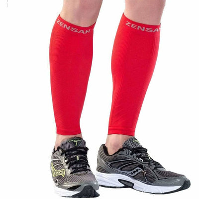 Zensah Compression Leg Sleeves - X-Small/Small / Red