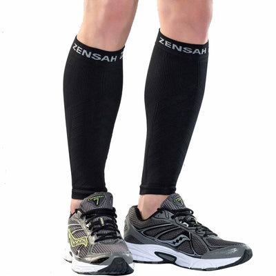 Zensah Compression Leg Sleeves X-Small/Small / Black